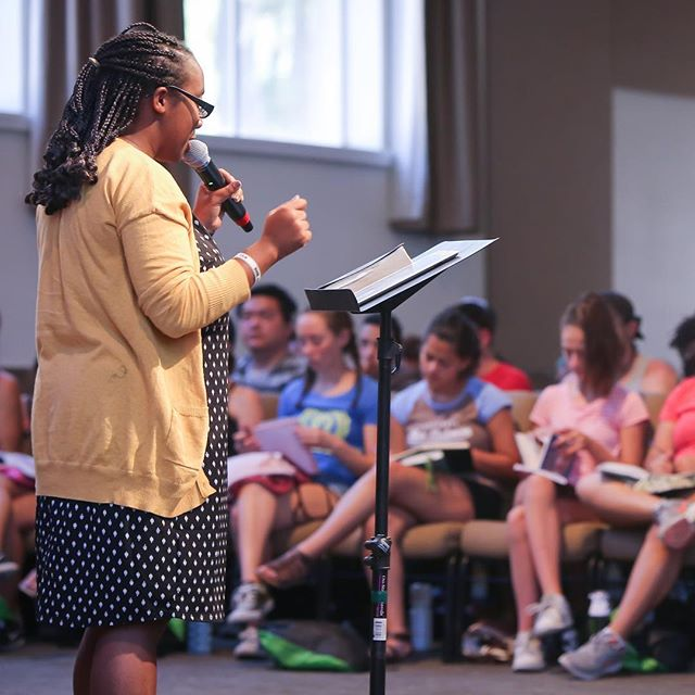 @ordinaryjen preaching on the healing at Camp. #Jesusisourhealer #GodStillHeals #socalsquad