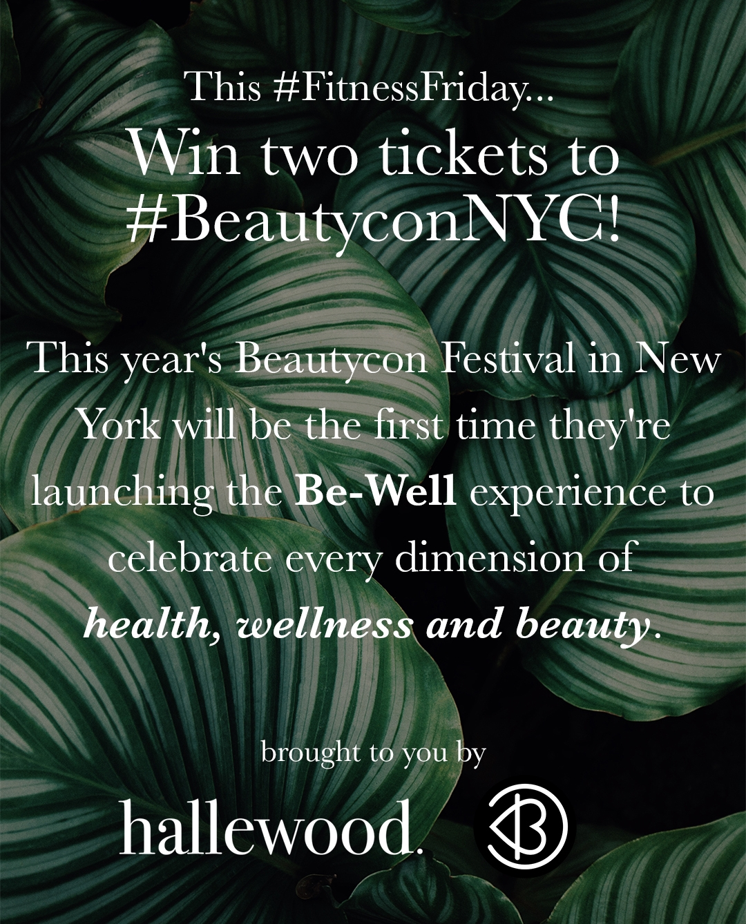 -  The beauty world is constantly evolving, building a deeper connection between health, wellness, and what we know as being beautiful. From day one, Beautycon's vision has been to challenge traditional standards and redefine what beauty means. Since self-care and a healthy lifestyle are at the top of everyone's to-do list, how we treat ourselves determines the state of our mind, body, and spirit. With that in mind, Beautycon is bringing all-new experiences to #BeautyconNYC that celebrate every dimension of health and wellness.That's why we're giving away 2 tickets to #BeautyconNYC, but the promotion ends tomorrow, so be sure to enter now! *Closes at 9:00am PST on April 14th. Contest promotion rules can be found here.