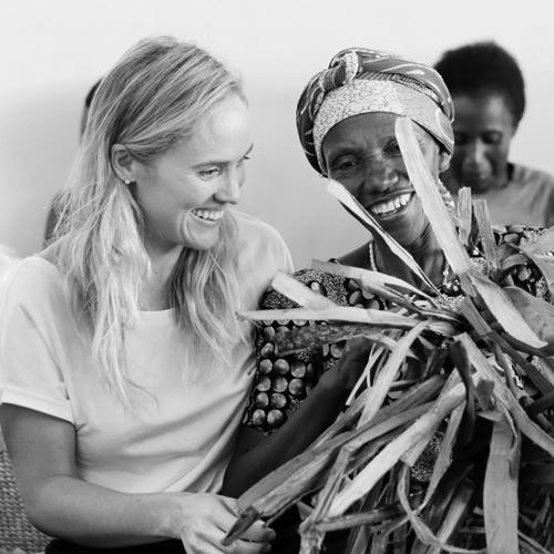 Deidre King (left) - Creative Director, Indigo Africa (USA)