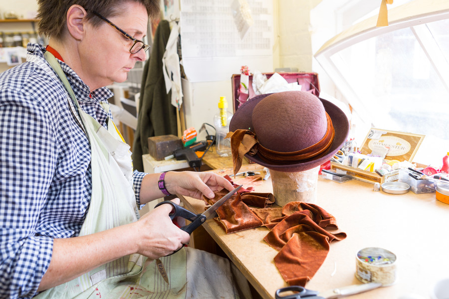 Making costumes for King Lear and The Rover, July 2016