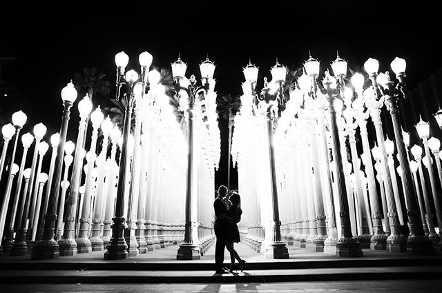 A little film noir at the @lacma  #losangeleswedding #losangelesphotographer #losangelesweddingphotographer #weddinginspo #engagementphotos #lacma #lacmalights #lacmaengagement #blackandwhite #sarkisstudios #engaged #engagementphotos