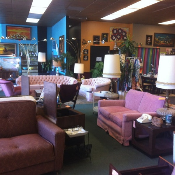 I HEART RETRO - Large show room of mid century resale in the coming up Foster-Powell neighborhood.