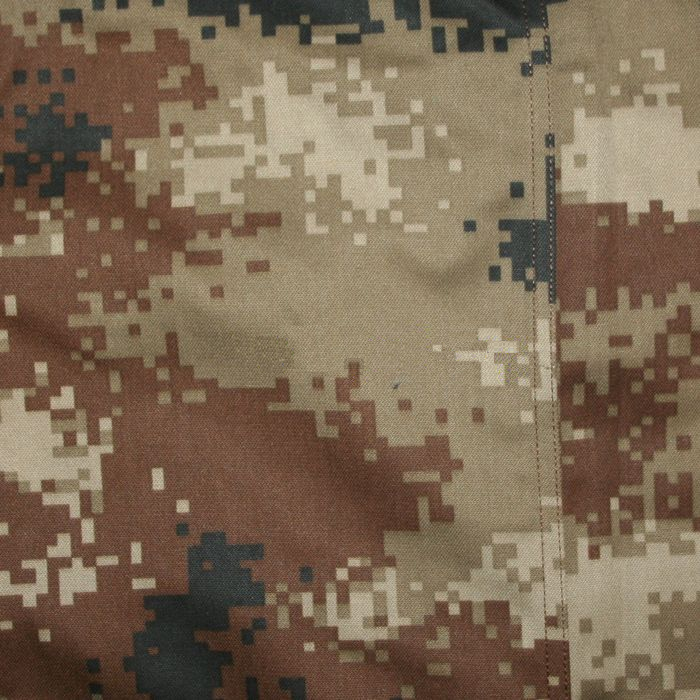 "Desert Pattern:   (Official name: 07 Arid Camouflage, ""07 荒漠迷彩"")  Originally designed for desert terrain, it is actually issued as winter camouflage in northeastern China."