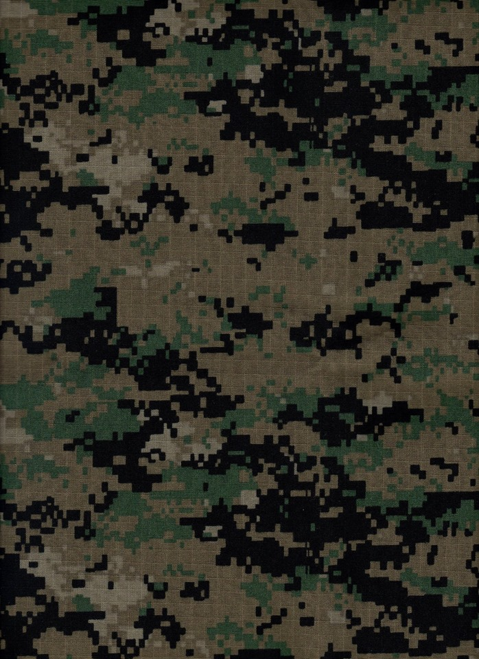 ROKPAT:   Issued to Army Special Warfare Command (SWC) units (airborne, rangers) and Air Force special forces, it is similar in appearance to USMC MARPAT woodland, though it differs in color shades and ratios, with a few small pattern differences, however its performance suffers from a very small repeating tile, especially noticeable on ponchos and other gear with large fabric areas.