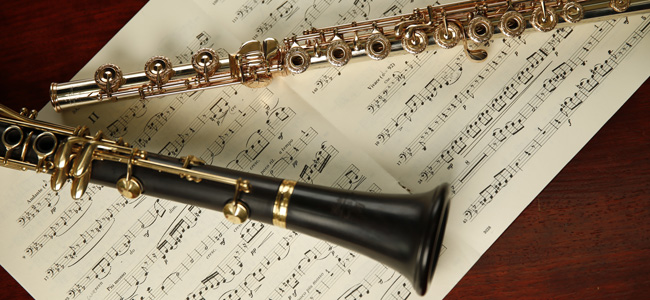 Woodwinds - The family of instruments that's characterized by utilizing wooden mouthpieces and sounds come from wind generated by the player, this diverse group of instruments are wonderfully fun and delightful to learn.