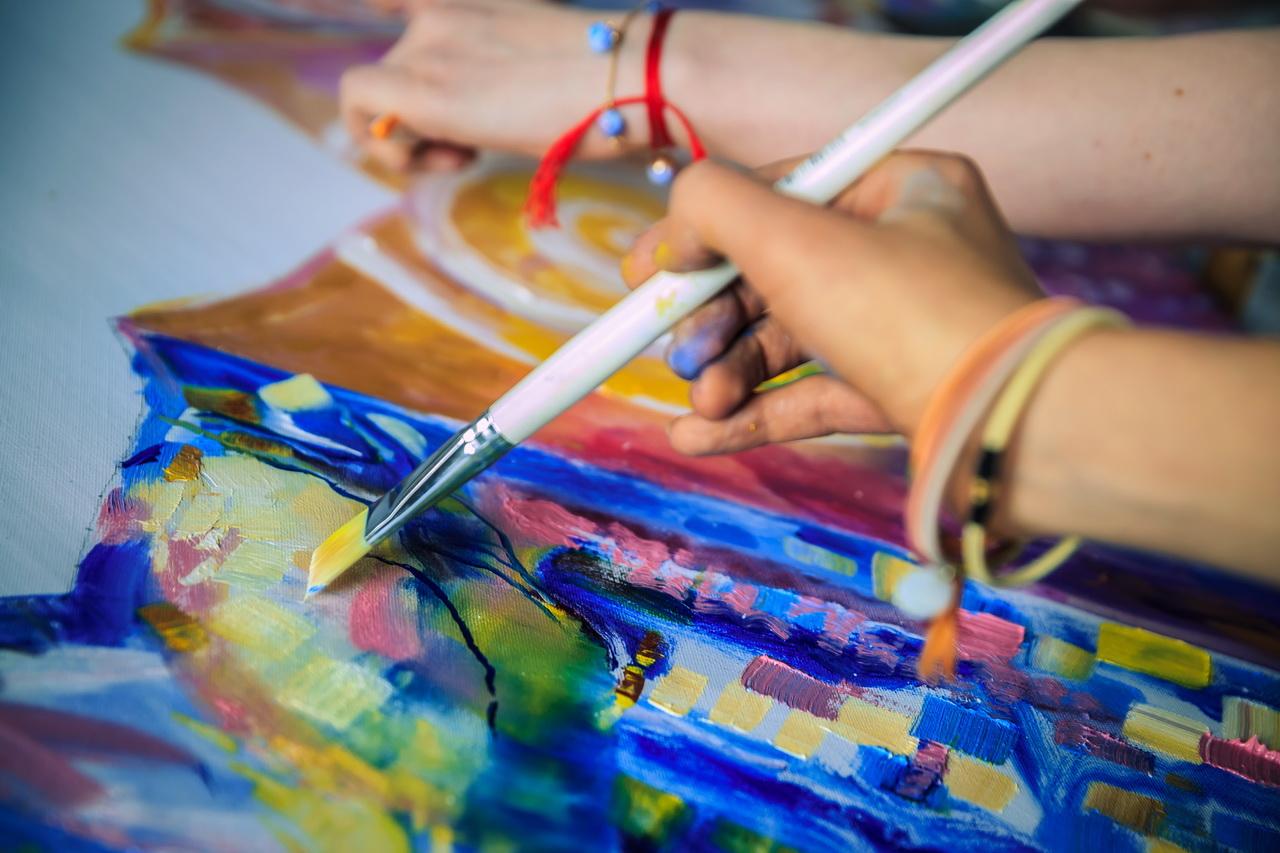 Workshops   Learning to create meditative art