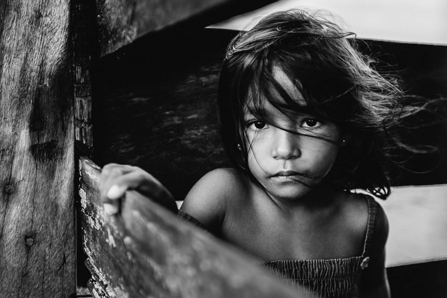 Natural light: A Brazilian girl in the Amazon Rainforest.