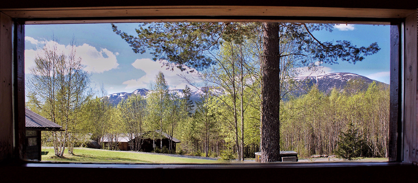 Accomodation in cabins or tent. Picture of one of the cabins view. Photo: Dhrama Mountain