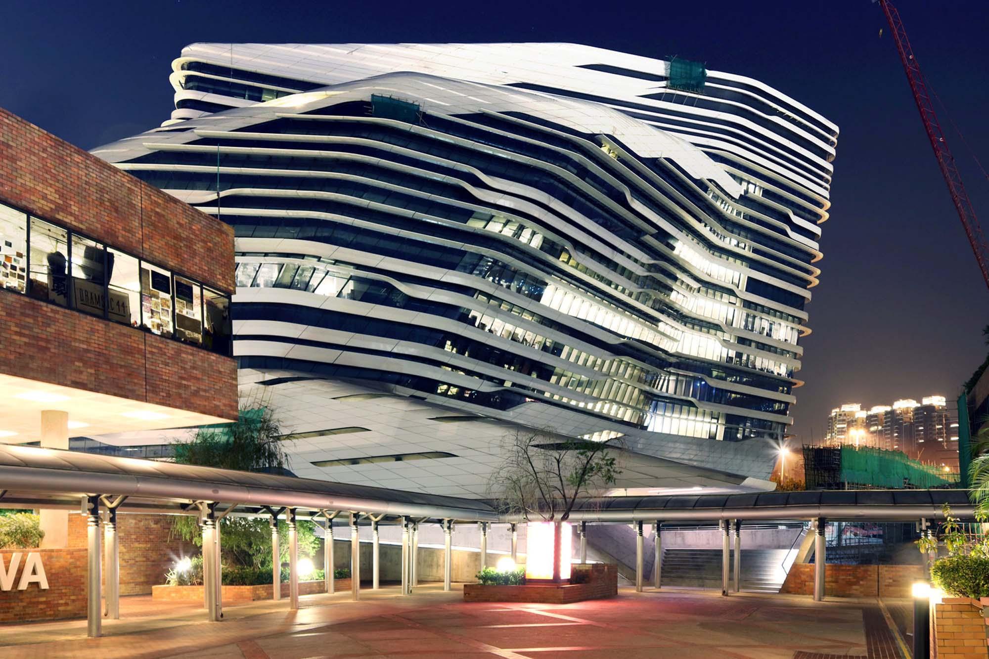Jockey Club Innovation Tower by Zaha Hadid