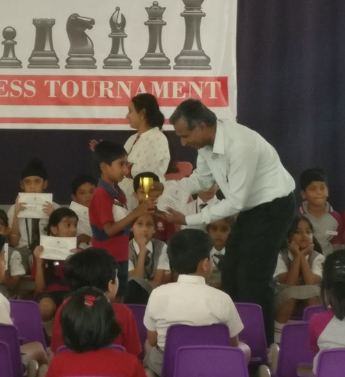 Aman Thomas secures 2nd place in the Interschool Rapid Chess Tournament - 2017