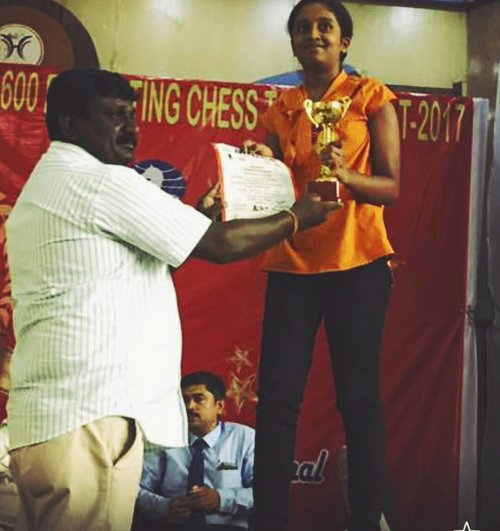 Vandana places 5th in the 7th BRDCA Under 1600 - U14 Category and qualifies for a FIDE Rating