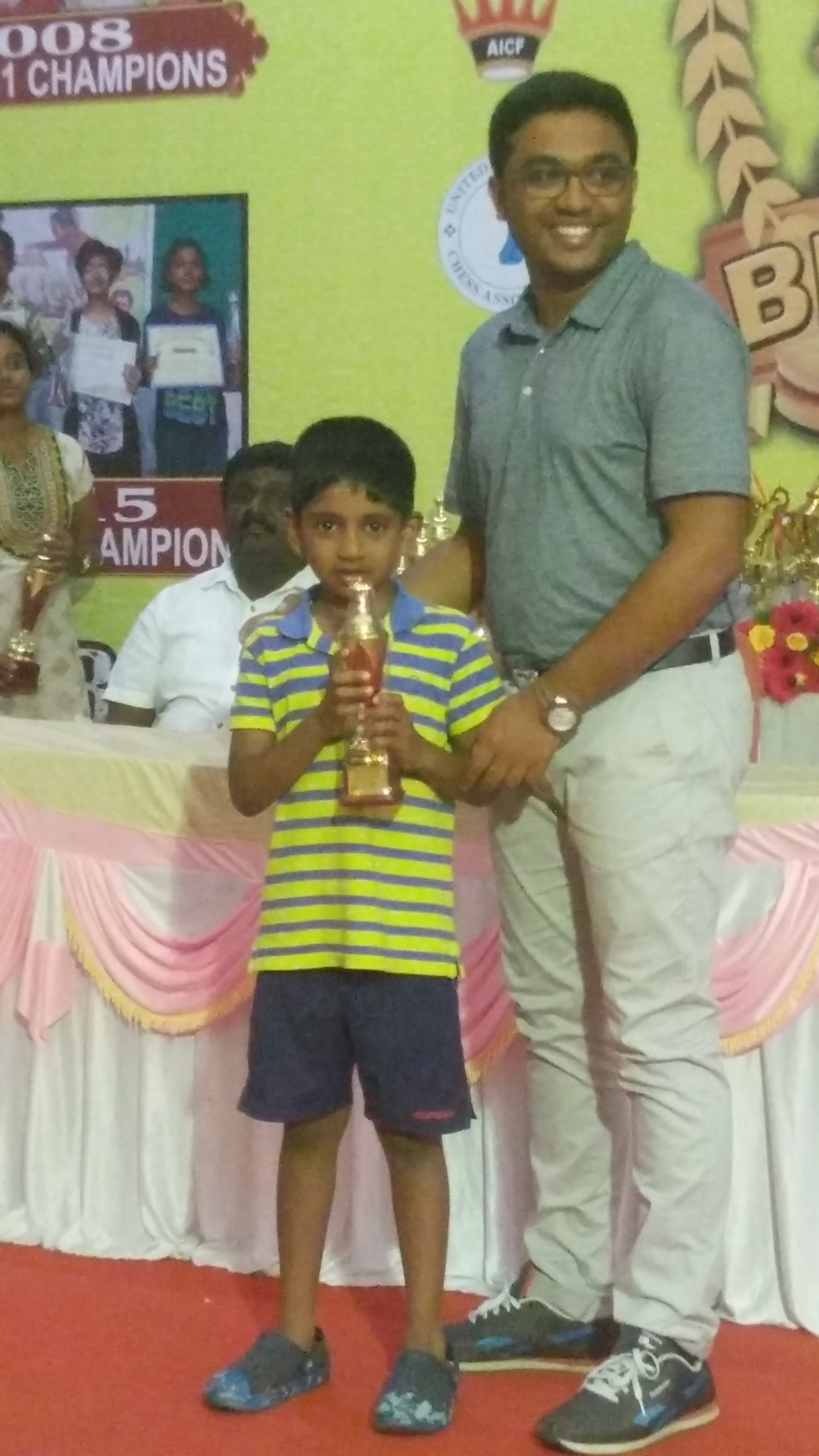 Aman Thomas Finished 3rd Place in the U08 Category of the FIDE Rated Rapid Chess Championship July 2017