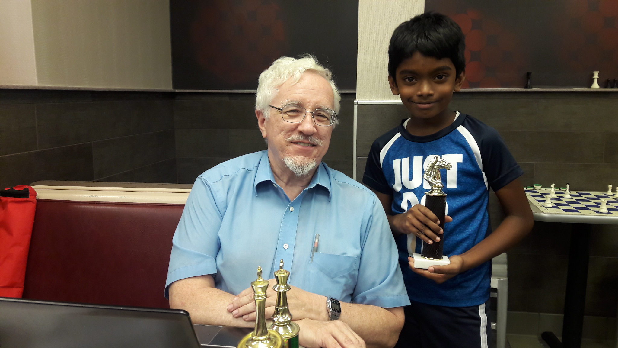 Udhayan Shanmugam places 1st in his Local Chess Tournament held in USA - September 2017