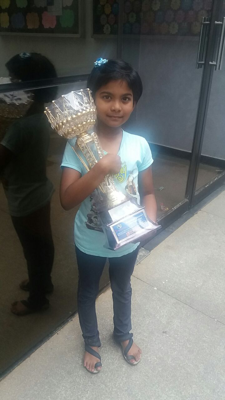 Jesslyn Jinisha places 1st in the 42nd ICA Monthly Chess Tournament U7 Girls Category