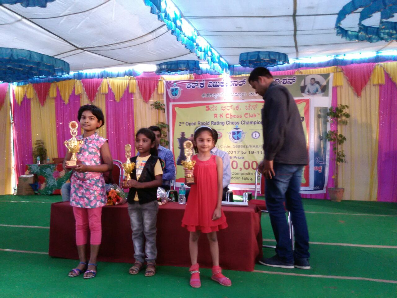 Jesslyn Jinisha places 1st in the U7 Category of the RK Chess Club's Chess Championship FIDE Rated Touranment 2017
