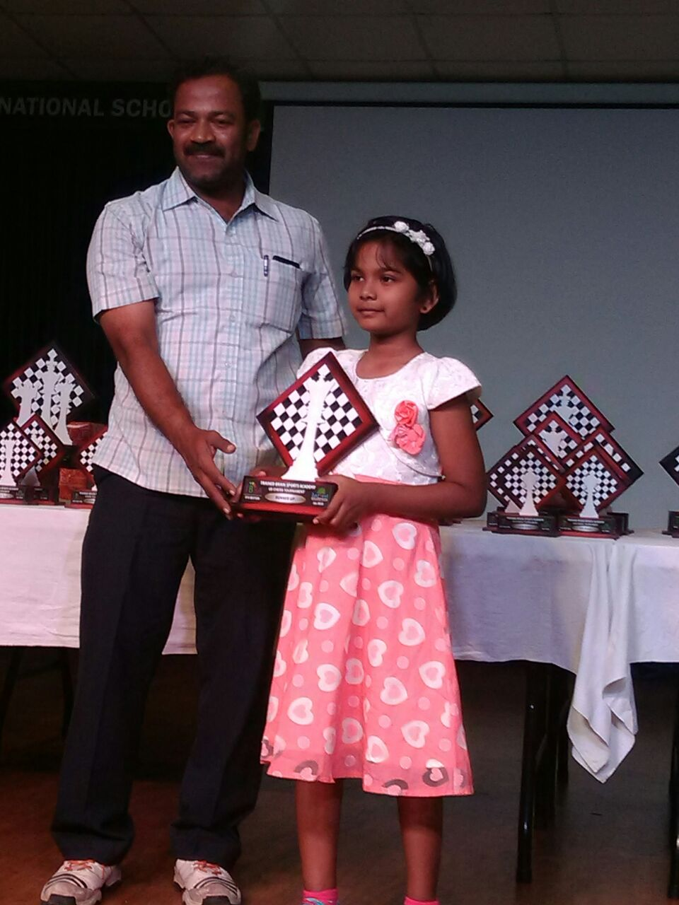 Jesslyn Jinisha places 2nd in U8 Category - Girls of the 8th TBSA Rapid Chess Tournament held in Bangalore