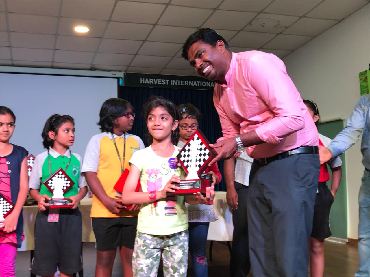 Sanikommu Manasvi places 2nd in U10 Category - Girls of the 8th TBSA Rapid Chess Tournament held in Bangalore