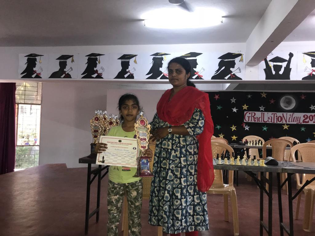 Sanikommu Manasvi places 2nd in U9 Category - Girls of the AKSHAYAKALPA 47th ICA Monthly Chess Tournament