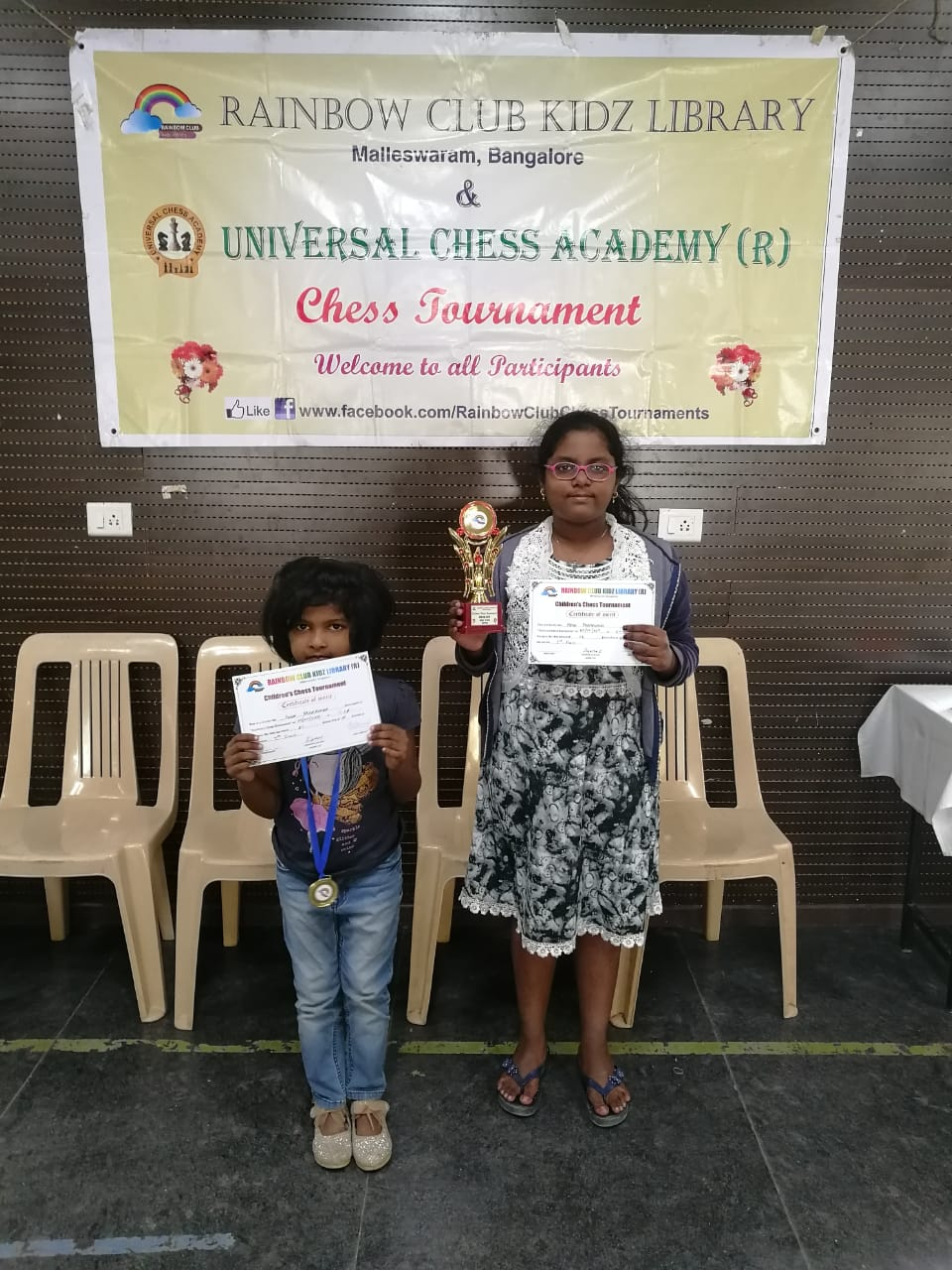 Congratulations to Adya for securing 1st Prize in the U10 Girls Category of the 41st Edition Children's Chess Tournament - Jan 2019