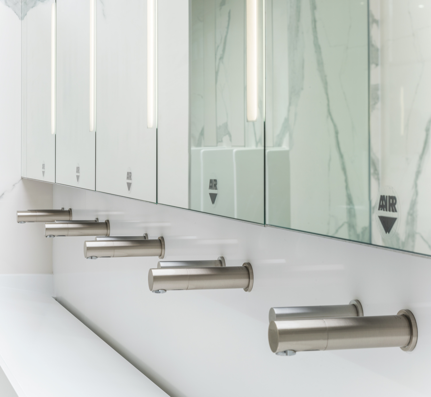 Touchless taps, soap dispenser & hand driers