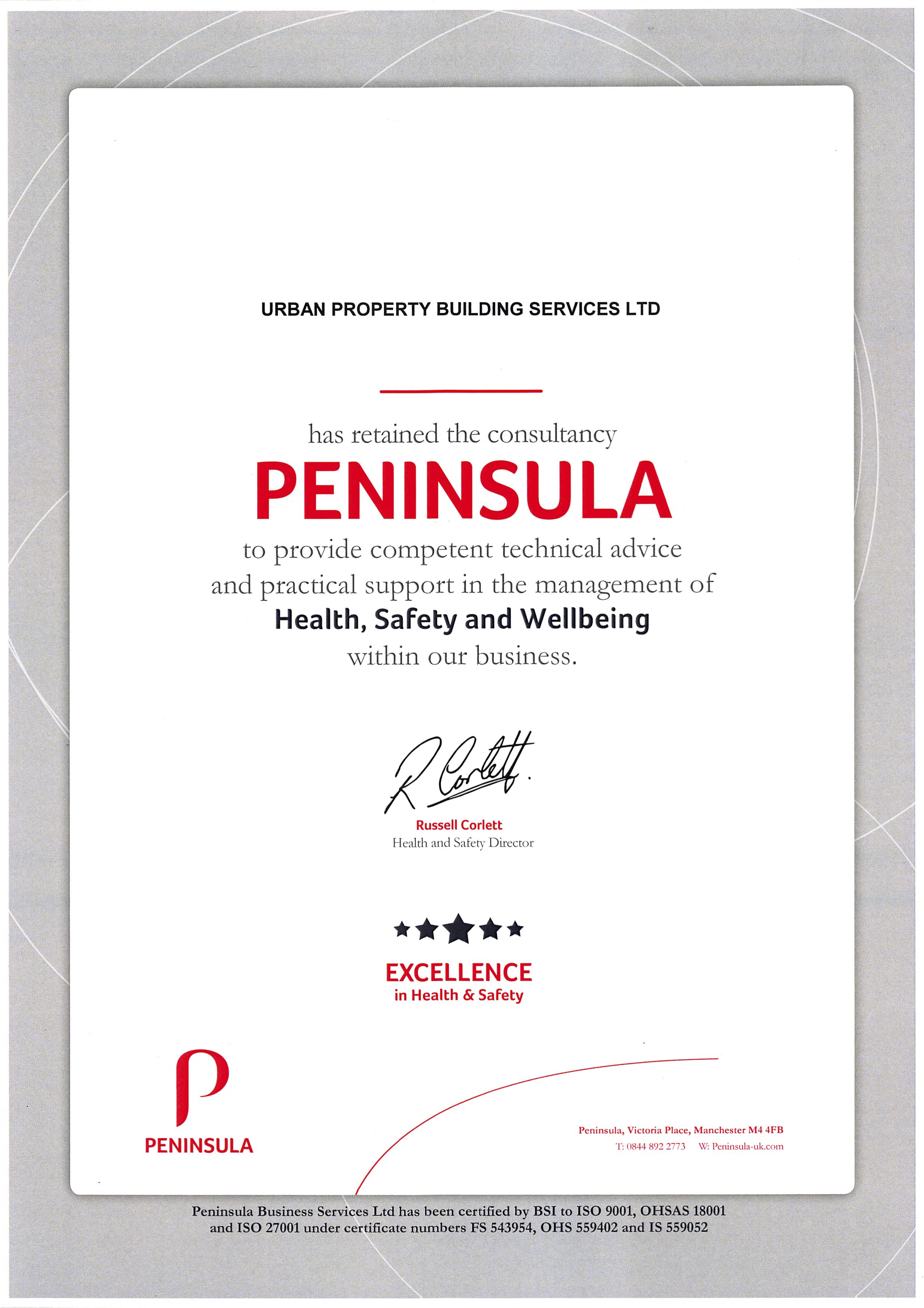 Peninsula - Health, Safety and Wellbeing