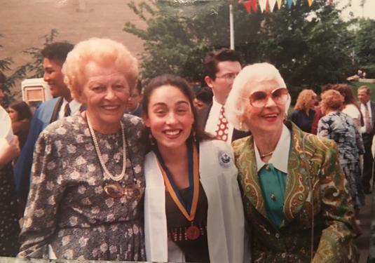 With both my grandmas after my high school graduation.
