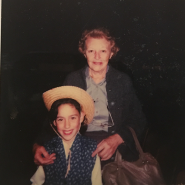 With Nanny after a grade school performance.