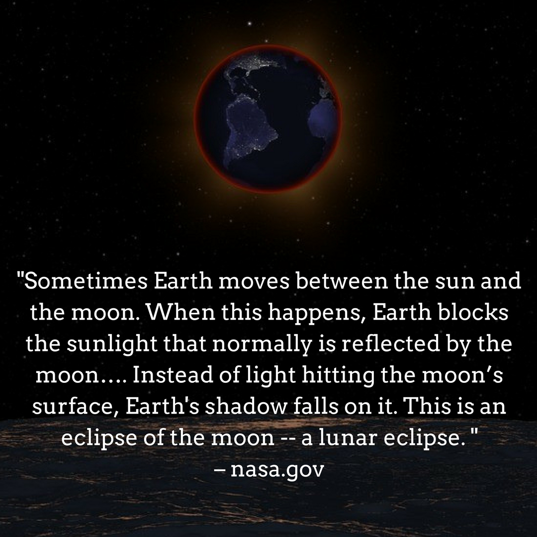 A lunar eclipse as seen from the moon: pbs.org