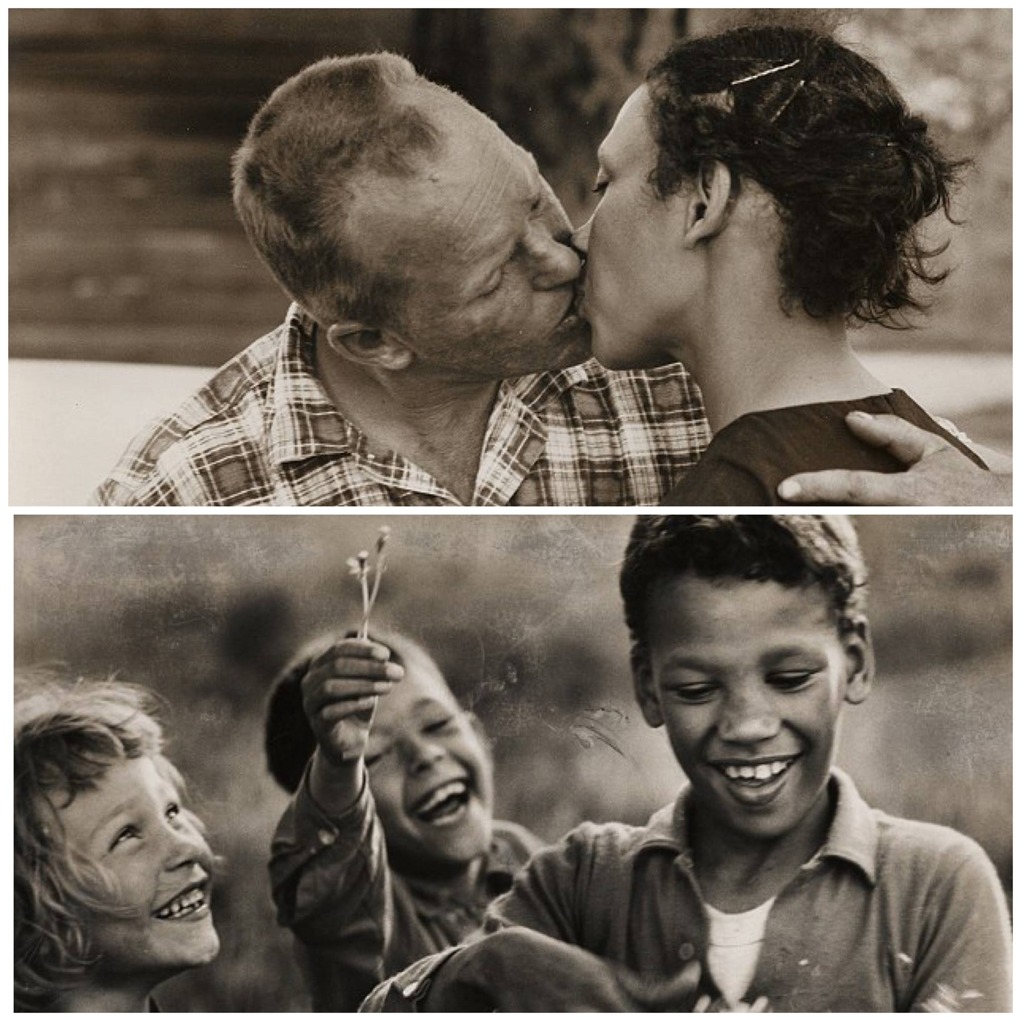 Richard and Mildred Loving and their children.  The Grey Villet Estate.