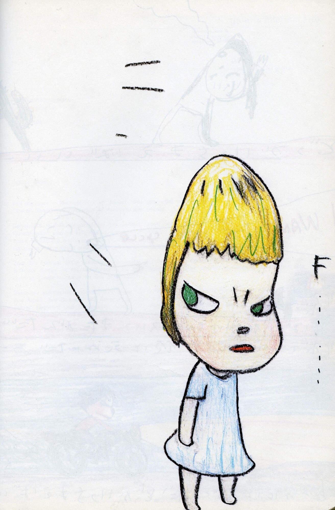 """""""F... Girl Getting Yelled At"""" by Yoshitomo Nara"""