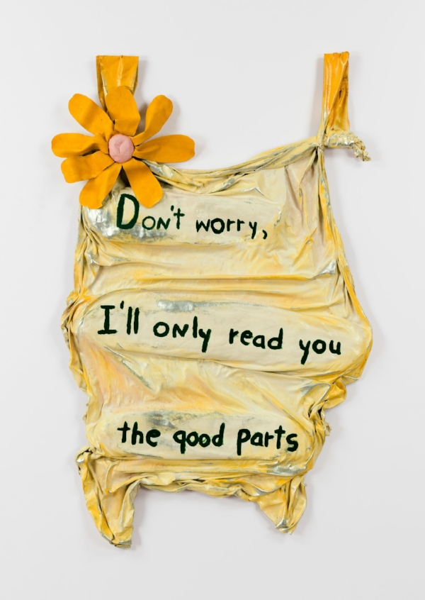 """Don't worry, I'll only read you the good parts,"" 1975.Credit© Estate of Ree Morton. Courtesy Alexander and Bonin, New York. Photo: Joerg Lohse."