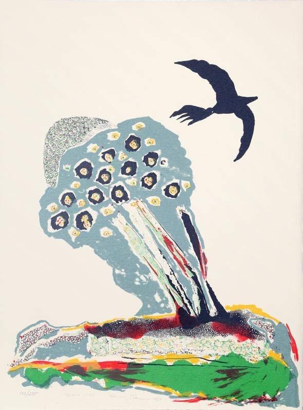 """""""Black Bird"""" by Benny Andrews"""