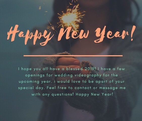 Happy New Year, sweet friends! I hope you all have a blessed year with love, fun memories, good health and so much more! I am SUPER excited for 2019. I am currently setting goals for my business, myself and my life. What about you? The two words I specifically want to live out in the upcoming year is humility and selflessness. Maybe we should be less focused on accomplishing everything and instead taking on the year by working on areas of our lives that need to grow. ❤️ I pray you all have a blessed year. I have a few openings for 2019. Feel free to message me for more info! 🎥  Xoxo, Sarah