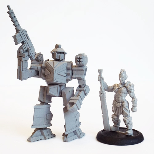 Miniatures from  EMP Games  and  Titan Wargames .