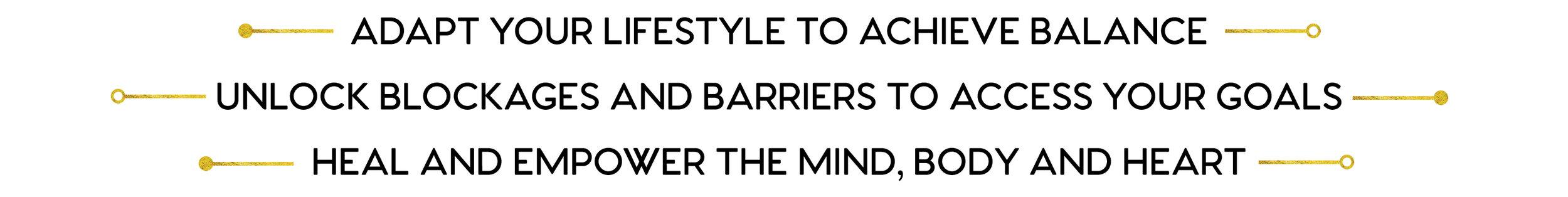 adapt your lifestyle to achieve balance