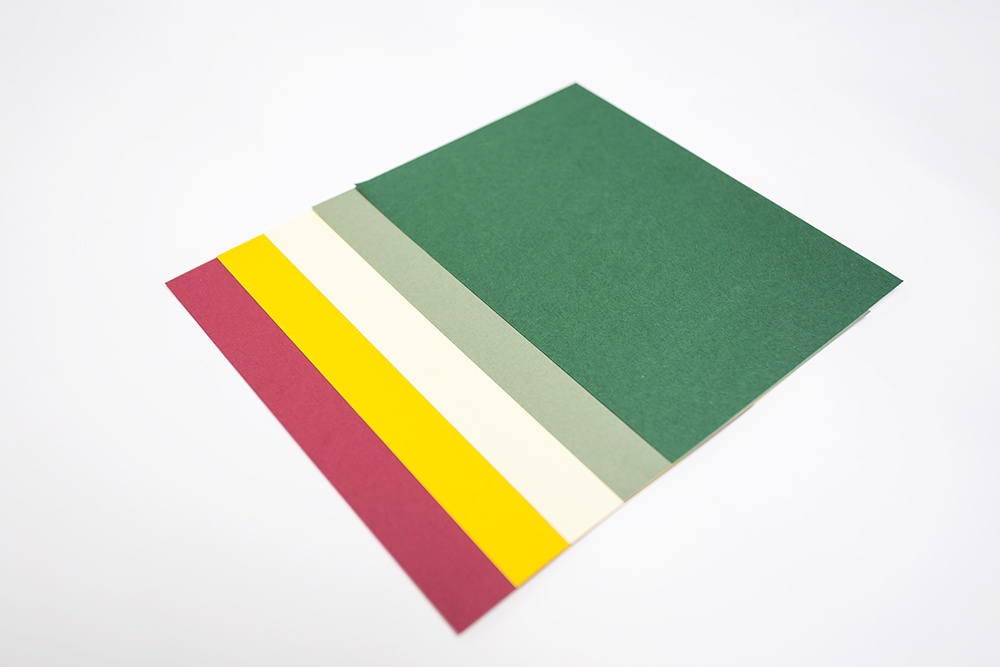 Working coloured paper palette