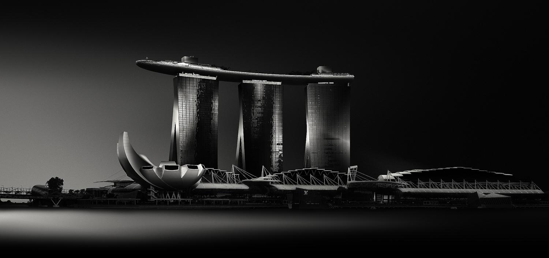 MARINA BAY SANDS - Grandeur, Study IV, 2016, Singapore