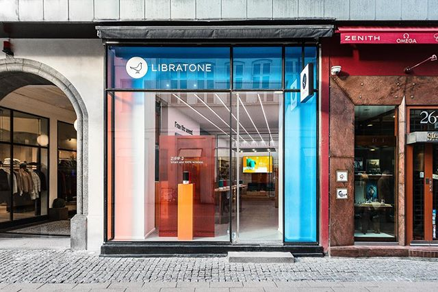 We are proud to show our new spatial identity for @libratone.  Build and design by @borgbruckner.  Photos by @hetoft