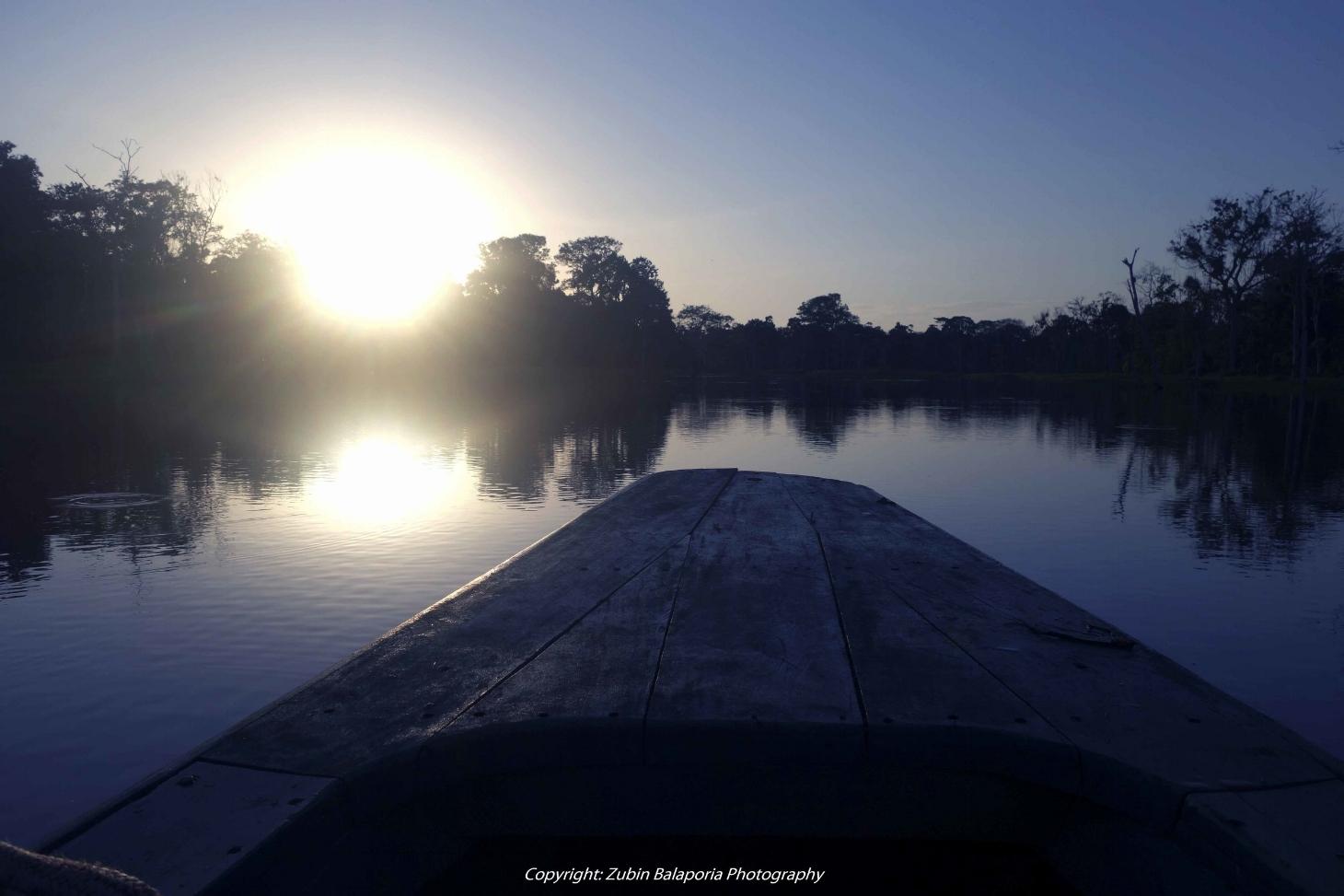 Amazon Canoe and Sunrise