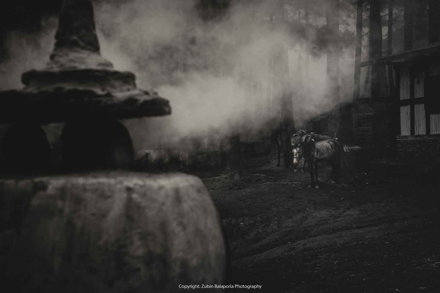 Chorten Smoke and Horse