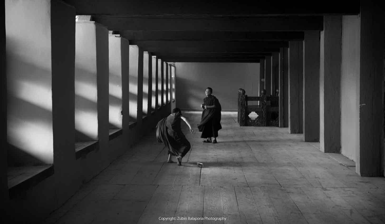 BHU Pillar Hall Monks 18 BW.jpg