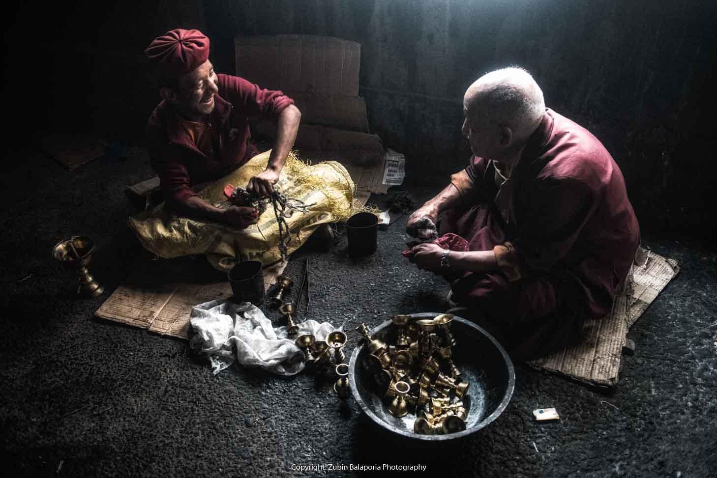 Gompa Brass Monks