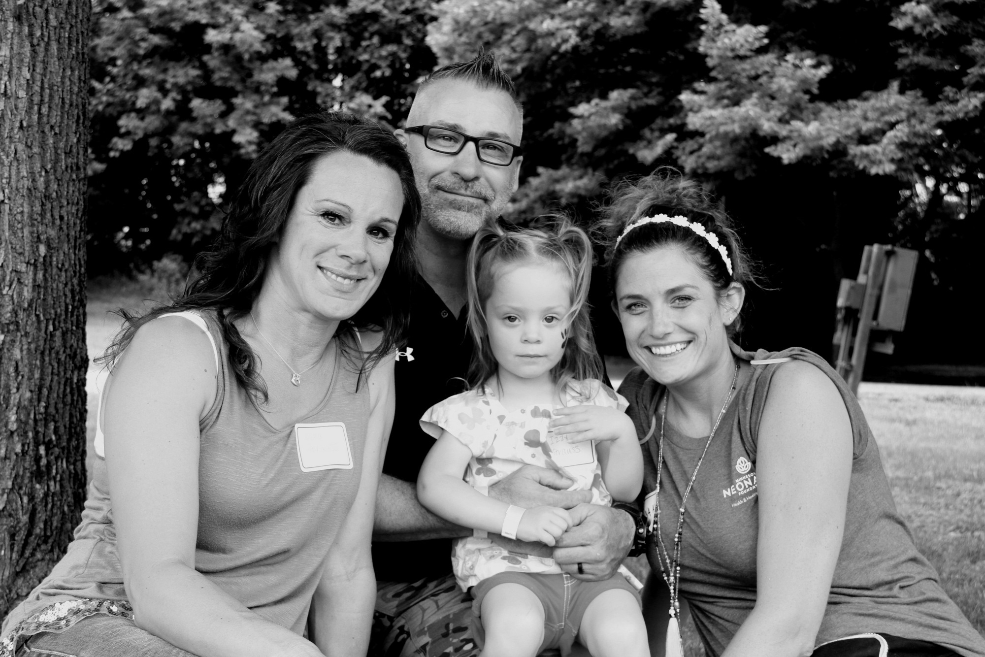 Lora, Mike, Izzy and Nurse Anna. Blessed, indeed.