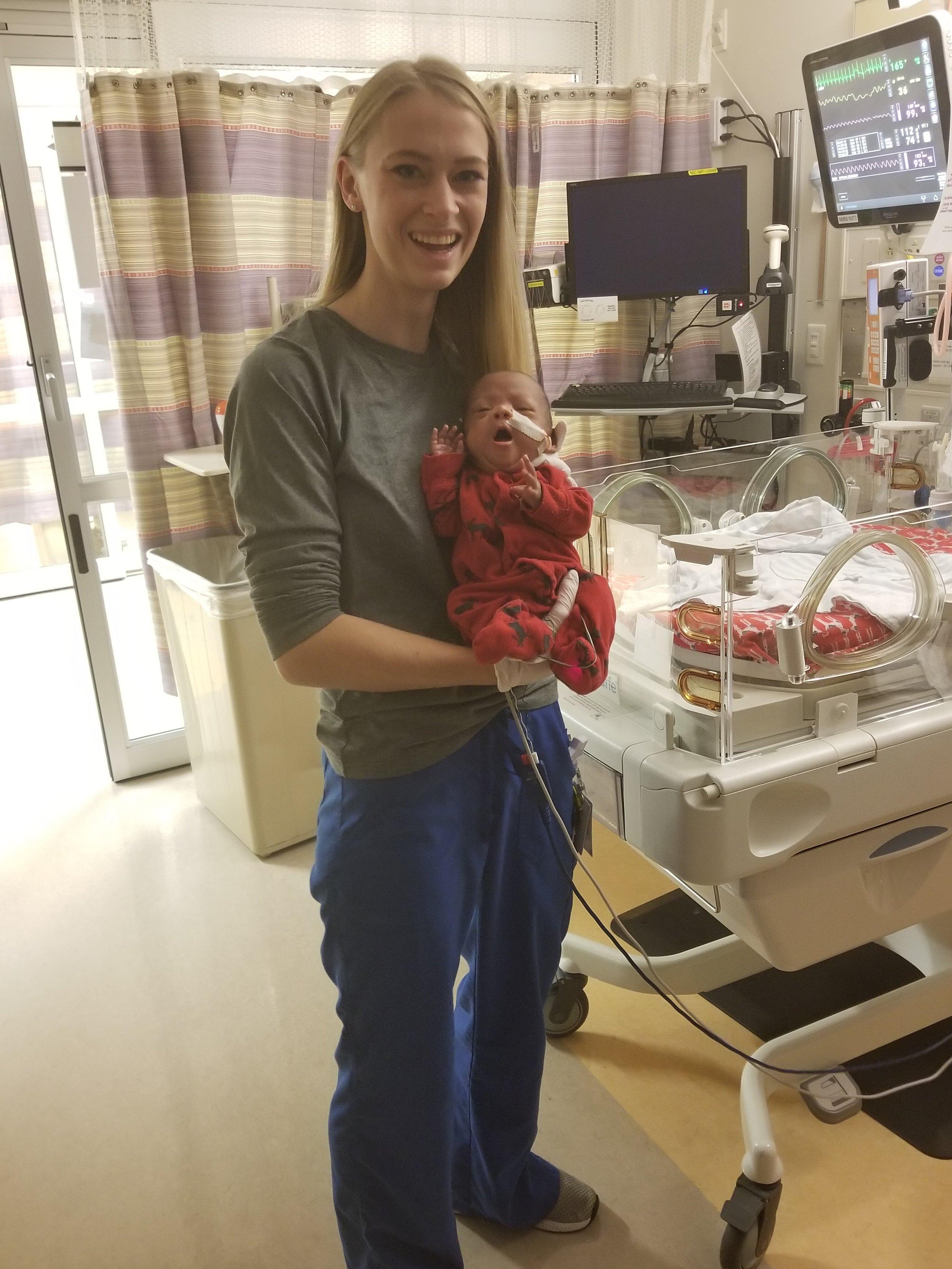 NICU Nurse with baby