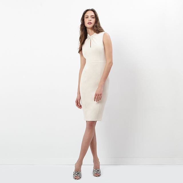 Newness:  crisp, versatile crepe style with twisted neckline details that is perfect for boardroom meetings and dinner dates. Link to shop here and in our bio: https://amzn.to/2NIIHWu #donnamorgan_nyc #effortlessfashion #summercollection2019 #guestofwedding #workwear #effortlessstyle #daytonightdress #fashioncollection2019 #fashiondaily #dailystyle #casualchic #affordablestyle #9to5style #classystyle #workstyle #guestofawedding #corporatestyle #daytonightstyle #prefallcollection2019 #repost  #professionalwomen #dresscrepe #allseasondress #whitedress