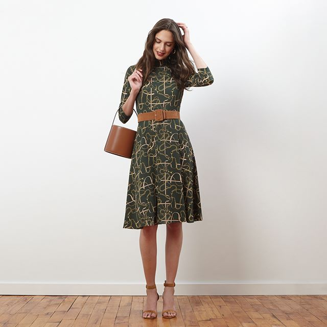 The New New for Fall. Mock neck equestrian print midi dress. Available now on Dillard's. Link to shop here and in our bio: https://bit.ly/2LiGH2q  #donnamorgan #donnamorgan_nyc #effortlessfashion  #workwear #effortlessstyle #daytonightdress #fashioncollection2019 #fashiondaily #dailystyle #casualchic #affordablestyle #9to5style #classystyle #workstyle #corporatestyle #daytonightstyle #fallcollection2019 #professionalwomen #allseasondress #allseasonfashion #printdress