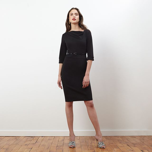 Versatile and on trend: our stretch cowl neck crepe dress is available now at Amazon, Zappos. Link to shop here and in our bio: https://amzn.to/2NTPQ6g #donnamorgan_nyc #effortlessfashion #summercollection2019 #guestofwedding #workwear #effortlessstyle #daytonightdress #fashioncollection2019 #fashiondaily #dailystyle #casualchic #affordablestyle #9to5style #classystyle #workstyle #guestofawedding #corporatestyle #daytonightstyle #prefallcollection2019 #professionalwomen #dresscrepe #allseasondress #allseasonfashion #sheathdress #crepedress #solidcolordress