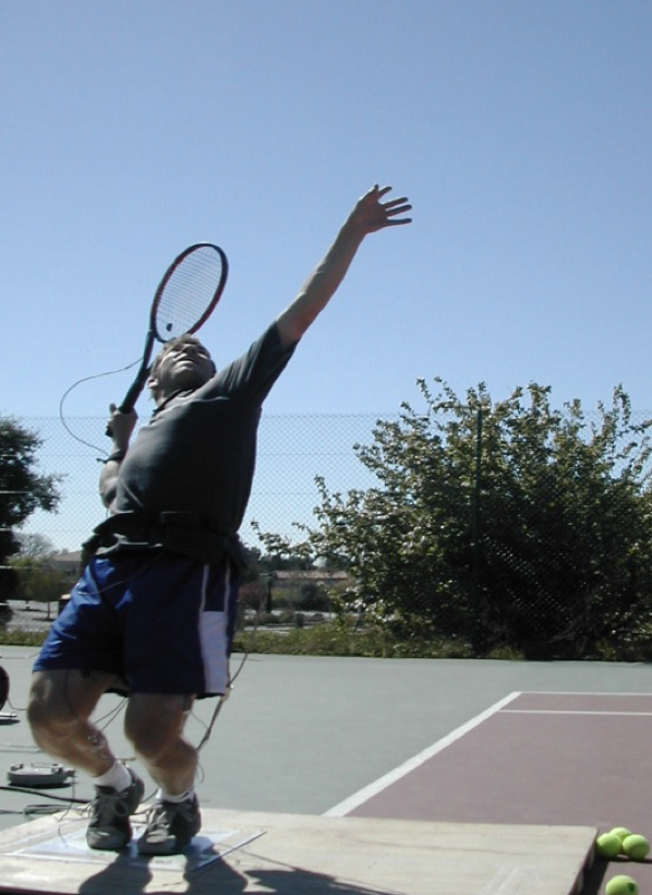 Lower limb drive during the serve -