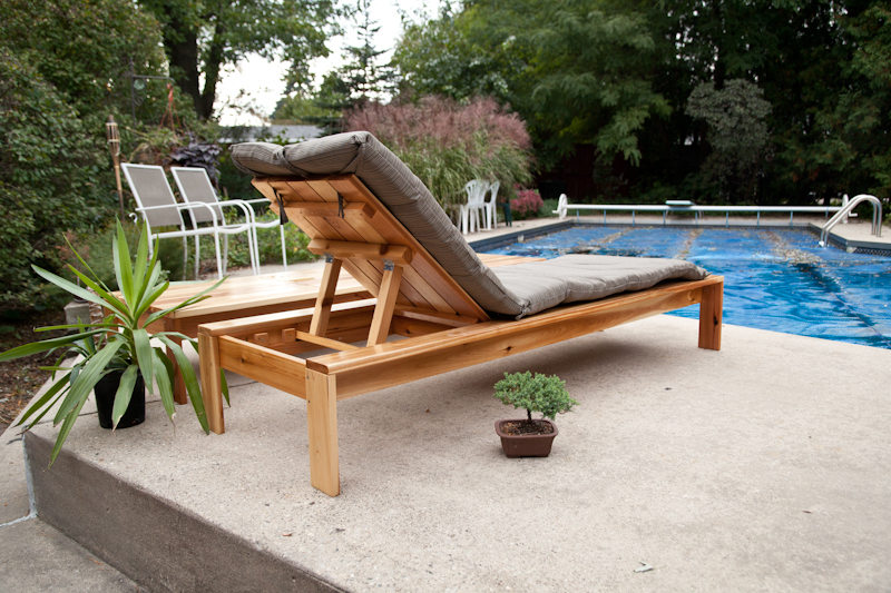 Single Lounger for the Simple Modern Outdoor Collection - Total Cost: $98! FOR BOTH!!!