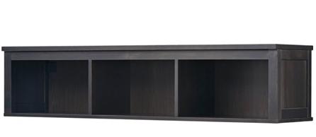 IKEA HEMNES Wall/Bridging Shelf - black-brown